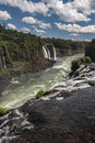 Foz do iguassu falls the waters of river canion and a series of large waterfalls falling between the rocks in iguacu parana brazil Stock Photo