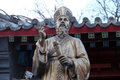 Fr. Matteo Ricci statue in front Saint Joseph Cathedral in Beijing Royalty Free Stock Photo