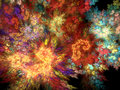 Fractal background - vibrant fantasy Stock Photography