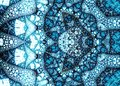 Fractal blue structures pattern blue ornament designed by generator software this psychedelic textures ideal as a background or Royalty Free Stock Photography