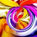 Fractal Burst, Spiral Waves, Abstract Textured Background, Digital Art, Rays Pattern, Graphic Design Illustration Wallpaper