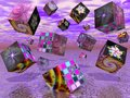 Fractal cubes II Royalty Free Stock Photo