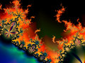 Fractal Flames Royalty Free Stock Image
