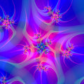 Fractal Flower Fusion Royalty Free Stock Photo
