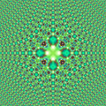 Fractal green print tiled psychedelic symmetric highly detailed that is visible in a close view good for prints also good to make Stock Photo
