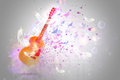 Fractal guitar fantasy with lights and bubbles Royalty Free Stock Photo