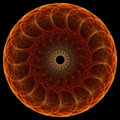 Fractal mandala on black background Stock Photography