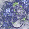 Fractal pattern with tiny flowers