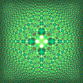 Fractal psychedelic green square pattern symmetric it s highly detailed that is visible in a close view good for prints it s ready Stock Image