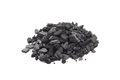Fraction of charcoal on a white background Royalty Free Stock Photos