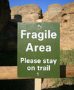 Fragile Area Sign Royalty Free Stock Photo