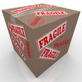 Fragile Cardboard Box Shipment Package Stock Photos