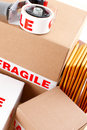 Fragile delivery service Royalty Free Stock Image