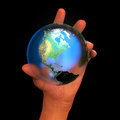 Fragile earth bubble Royalty Free Stock Photo