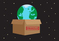 Fragile earth a metaphor about caring for and protecting the planet Stock Image
