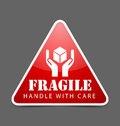 Fragile icon Royalty Free Stock Photos