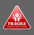 Fragile icon Royalty Free Stock Photo