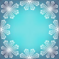 Fragile lacy border composition on colorful background line art or frame elements on vivid background copy space vector file is Stock Photos
