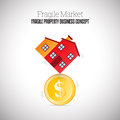 Fragile Property Business Royalty Free Stock Photo