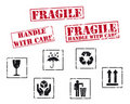 Fragile rubber stamps Royalty Free Stock Image