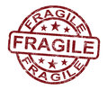 Fragile Stamp Shows Breakable Products For Delivery Royalty Free Stock Photos