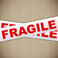 Fragile tape Stock Image
