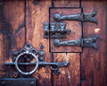 Fragment of ancient door Royalty Free Stock Photo