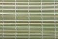 Fragment of bamboo mat macro for making sushi Royalty Free Stock Photos