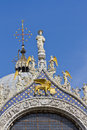Fragment. Basilica of Saint Mark, Venice, Italy Stock Photos
