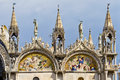 Fragment. Basilica of Saint Mark, Venice, Italy Stock Photography