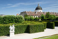 Fragment Beautiful garden of the lower Belvedere Palace and view Royalty Free Stock Photo