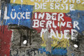 Fragment of the Berlin wall Royalty Free Stock Photo