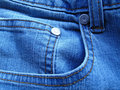 Fragment blue jeans Royalty Free Stock Photography