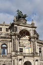 Fragment of building of Semper Opera House  in Dresden Royalty Free Stock Photo