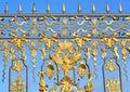 Fragment of Catherine palace fence in Tsarskoye Selo. Royalty Free Stock Photo