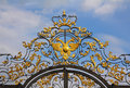 Fragment of catherine palace gate in tsarskoye selo saint petersburg russia Royalty Free Stock Image
