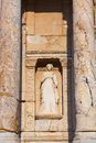 Fragment of celsius library in ephesus turkey archeology background Stock Photography
