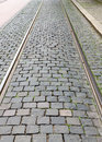 Fragment of a cobbled road useful as texture Royalty Free Stock Photo