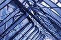 Fragment d'architecture urbaine moderne, toit en métal Photographie stock libre de droits