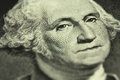 A fragment of a denomination of one us dollar closeup Royalty Free Stock Photography