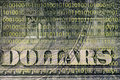 Fragment of a dollar bill Royalty Free Stock Image