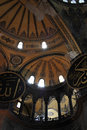 Fragment dome of hagia sophia it is a greek orthodox church later an imperial mosque and now a museum in istanbul turkey Stock Photos