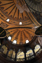 Fragment of the dome hagia sophia museum it is a greek orthodox church later an imperial mosque and now a in istanbul Stock Photos