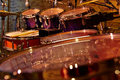 Fragment drums close up Royalty Free Stock Photo