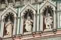 Fragment of facade Duomo Santa Maria del Fiore, Florence, Italy Royalty Free Stock Photo