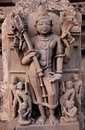 Fragment of the famous erotic temple in Khajuraho Royalty Free Stock Image