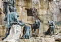 A fragment of the fountain hunt king matthias budapest Stock Images