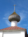 Fragment of gateway church of the Lady day of the Solovki monast Royalty Free Stock Photo
