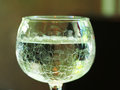 Fragment of glass filled with water drink Royalty Free Stock Photo