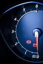 Fragment of instrument panel of car speedometer, tachometer. Royalty Free Stock Image